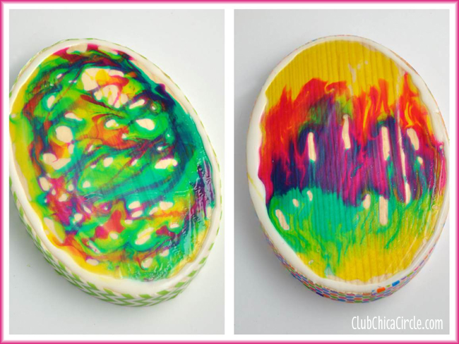 Glass stained eggs easy craft idea
