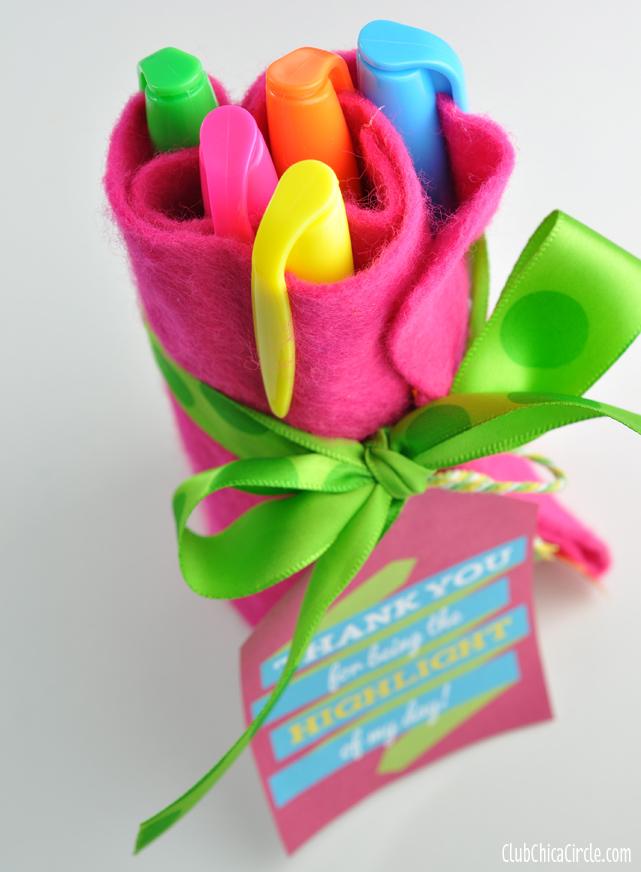 Highlighter Homemade Roll Teacher Gift idea