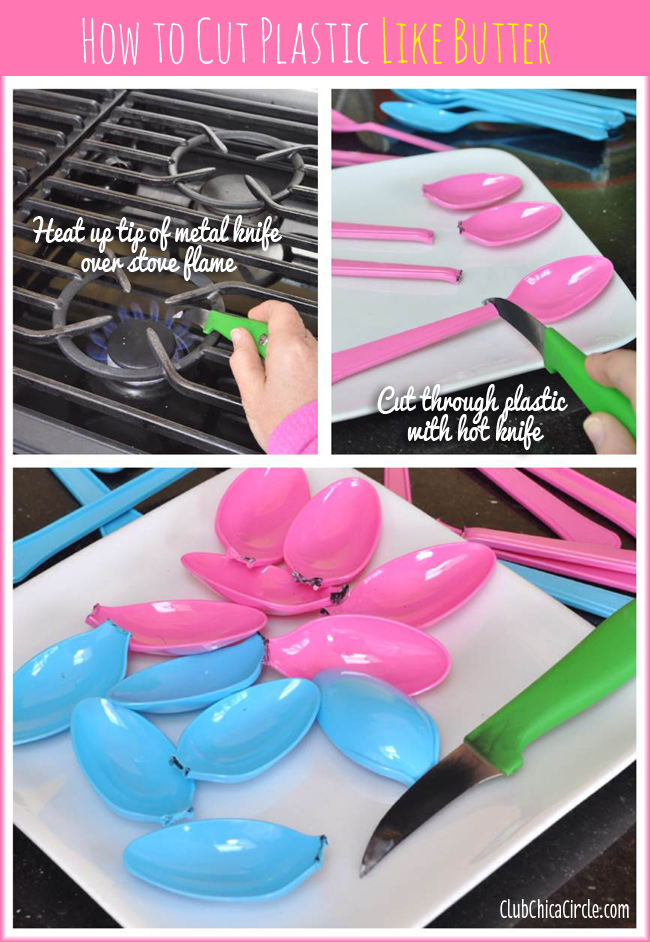 How to melt plastic easily with hot craft knife