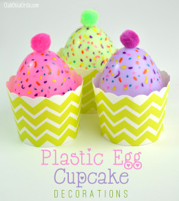Plastic Easter Egg Cupcake Decorations craft idea