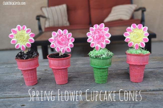 Spring Cupcake Cones DIY