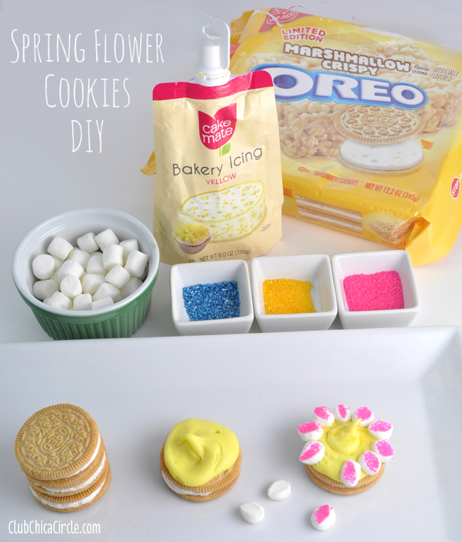 Spring Flower Cookie DIY Supplies