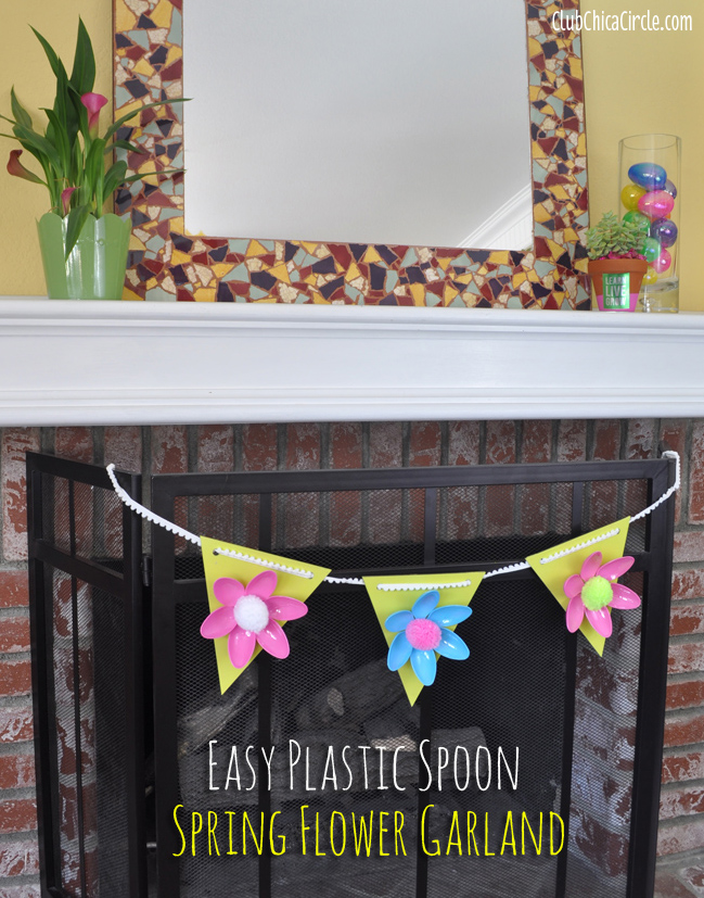 Spring Flower Garland Home Decor Tutorial