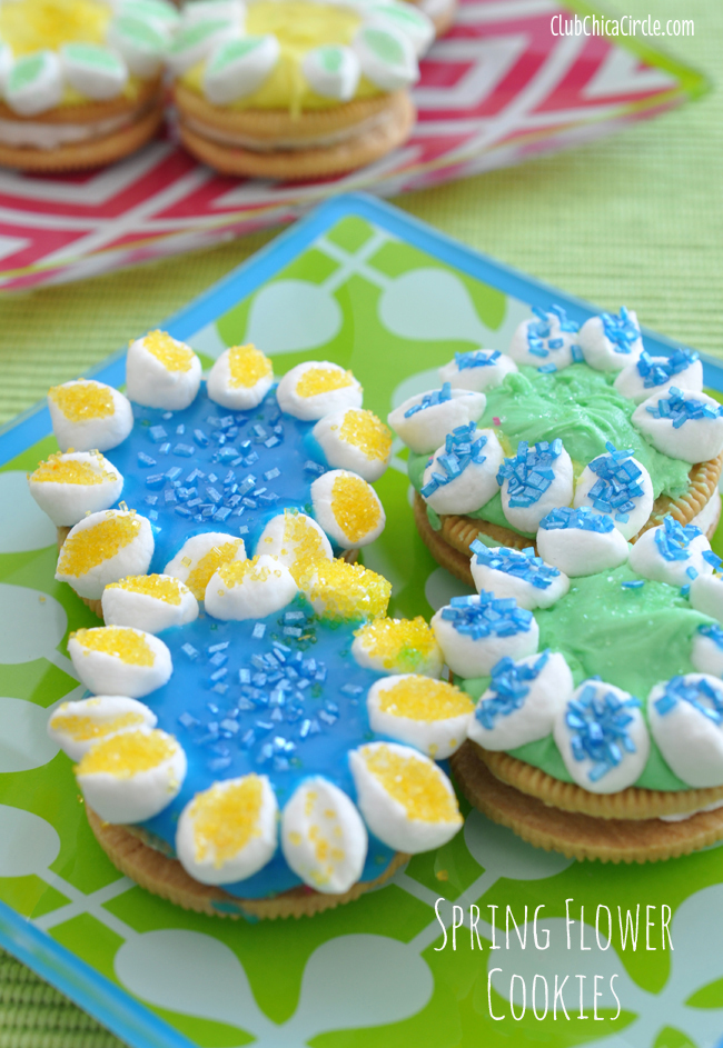 Spring Flower Marshmallow Petal decorated cookies tutorial