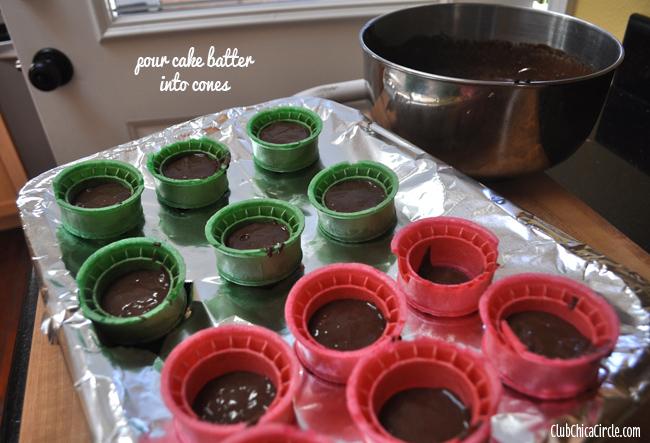 Spring cupcake cones step 2