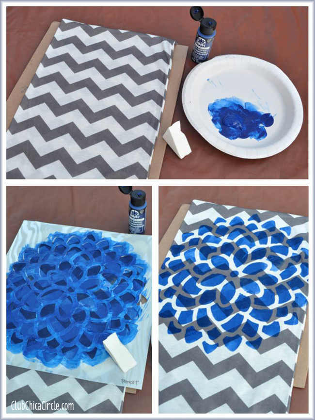 Stenciled Infinity scarf craft idea and tutorial