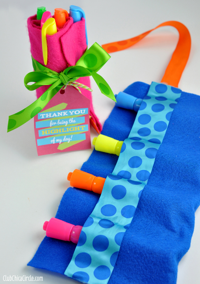 Teacher Appreciation Highlighter Rolls craft and gift idea