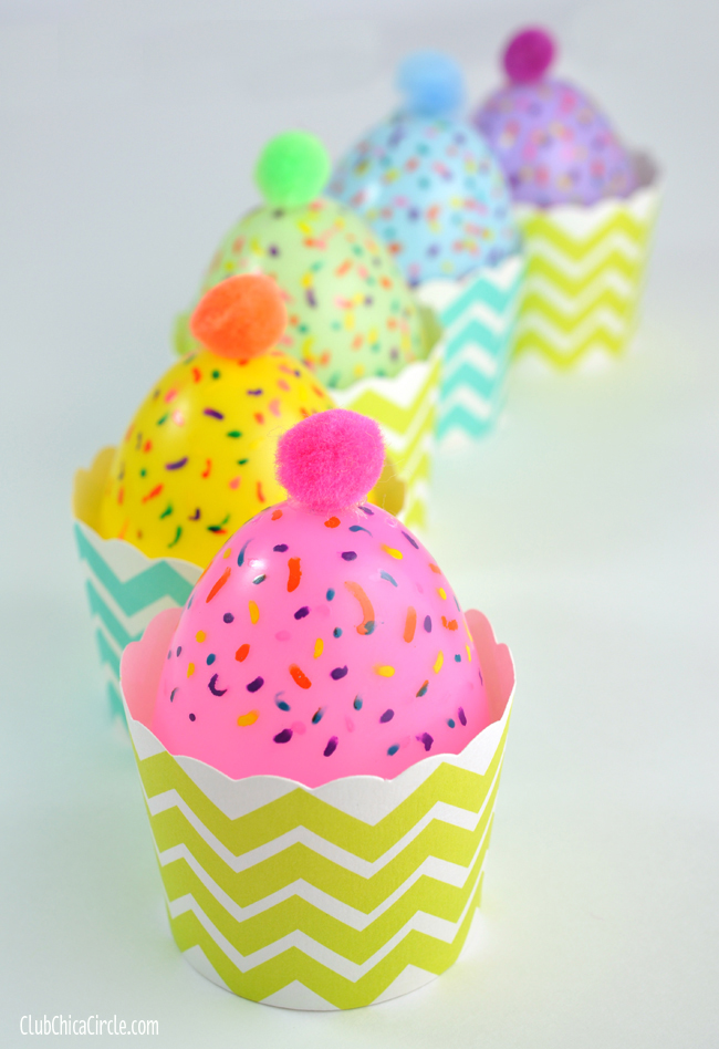 Upcycle plastic Easter egg craft idea