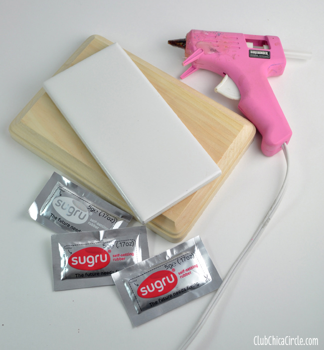 homemade custom glue gun holder supplies