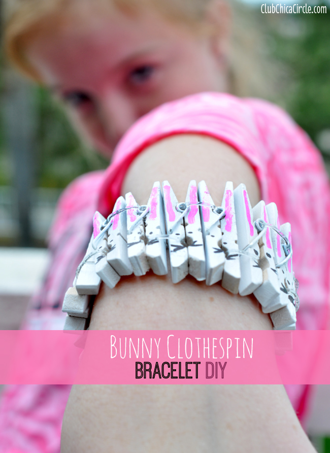 Bunny Clothespin Bracelet Tutorial
