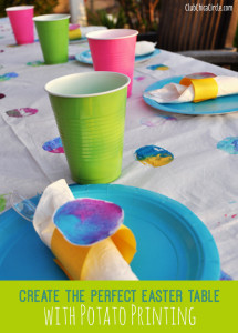 Create the Perfect Easter Table with Potato Printing with Kids