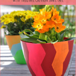 Design Your Own Spring Planters with FrogTape Shape Tape