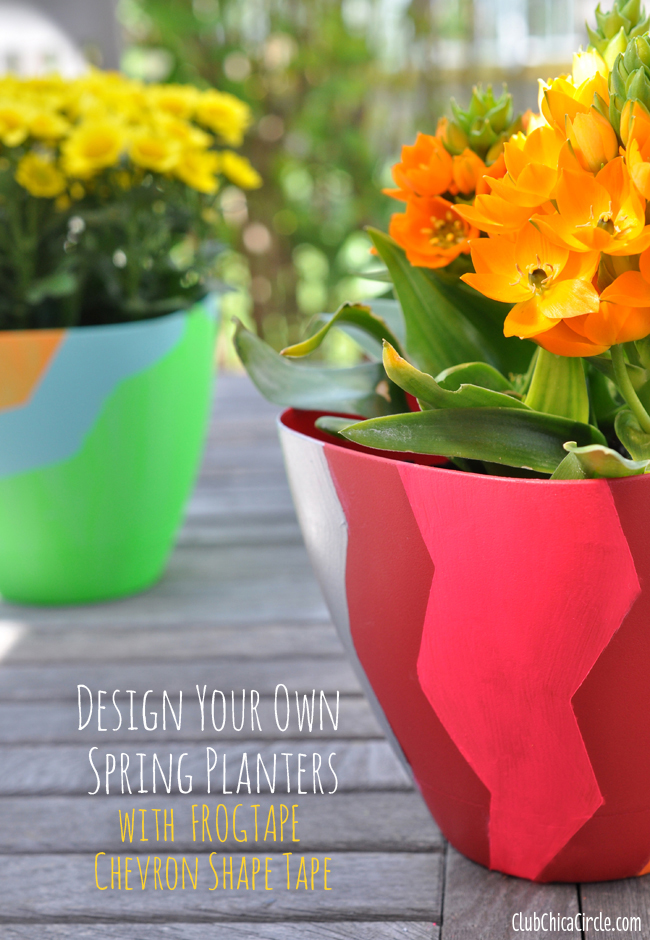 FrogTape Chevron Shape Tape spring planter craft