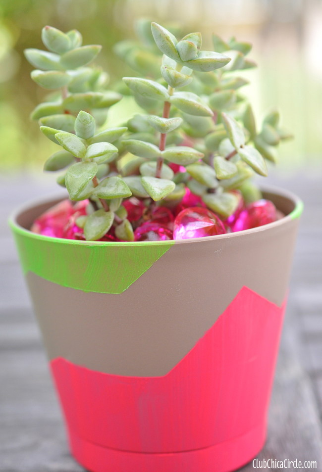 FrogTape spring planter easy craft idea