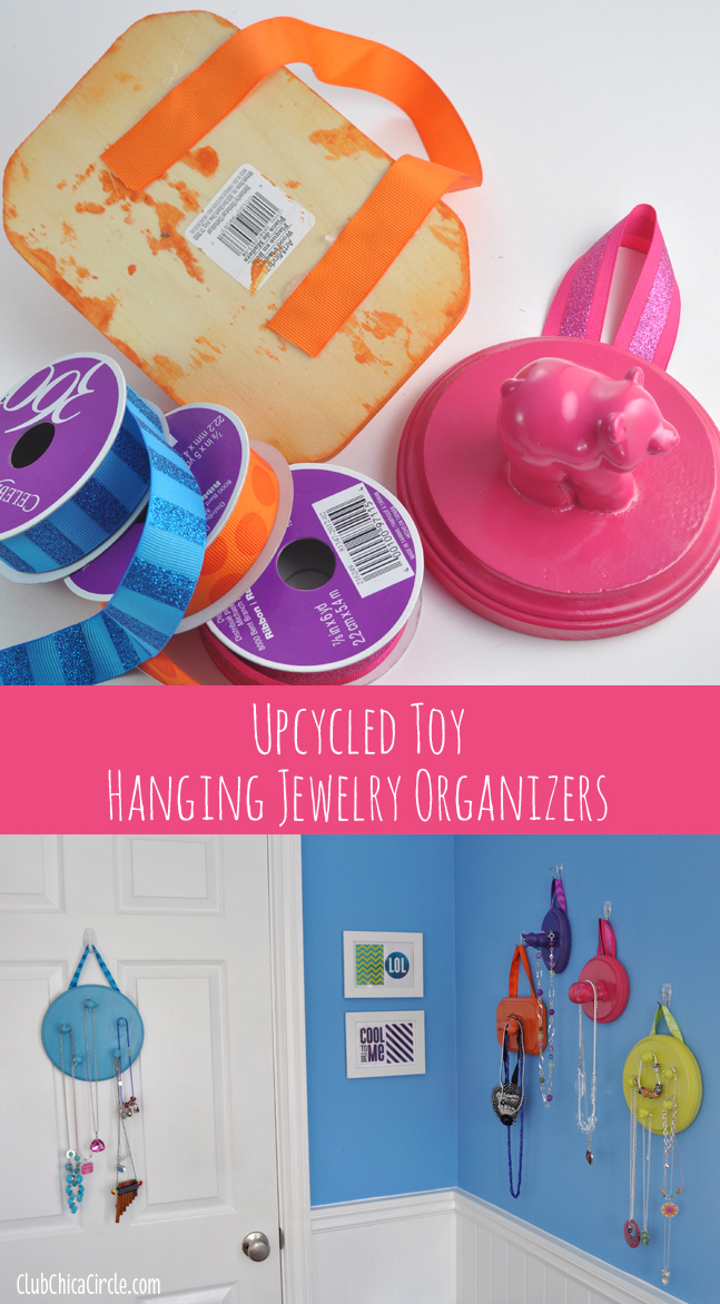 Hanging Upcycled Toy Tween Jewelry Organizers