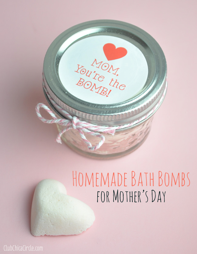 Homemade Bath Bombs for Mother's Day craft idea