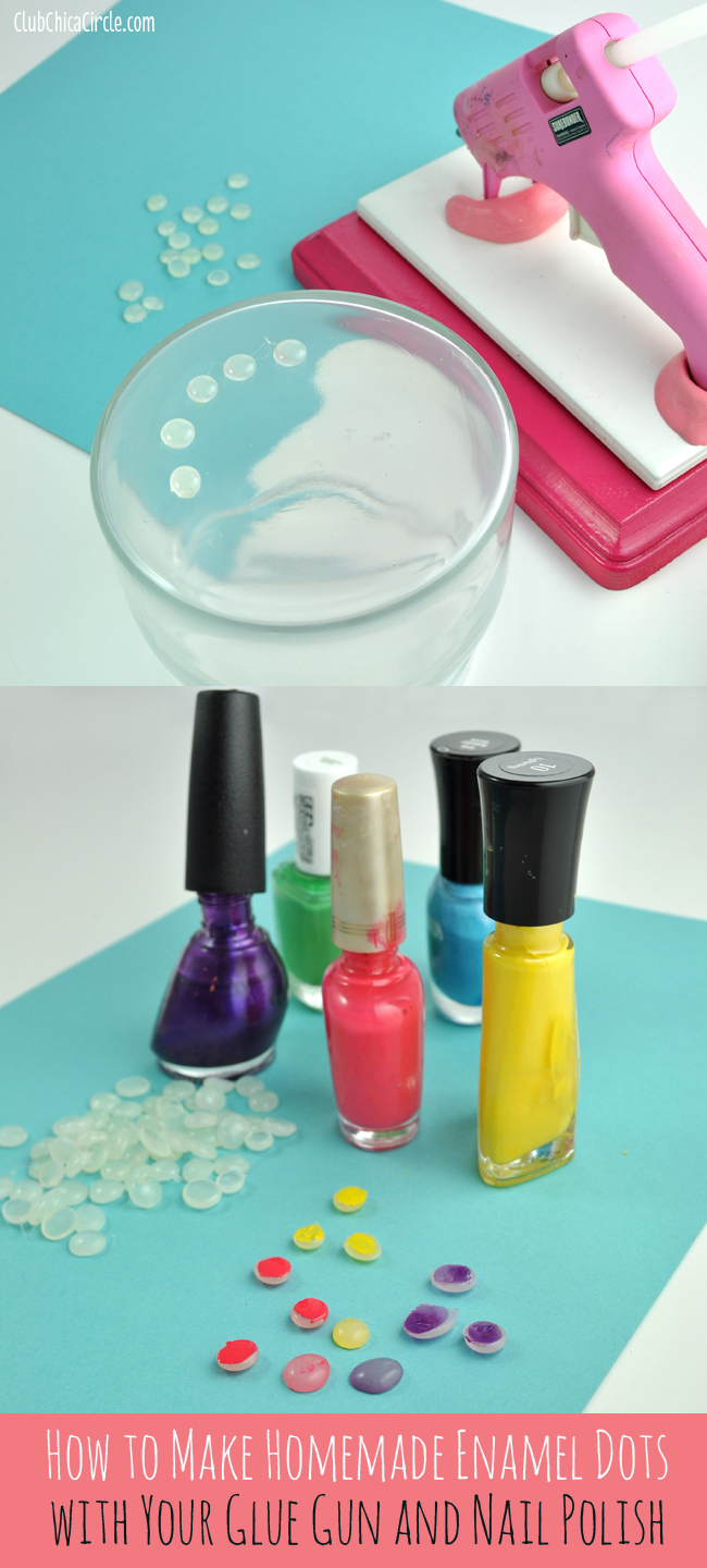 How to Make Glue Gun Enamel Dots with your glue gun