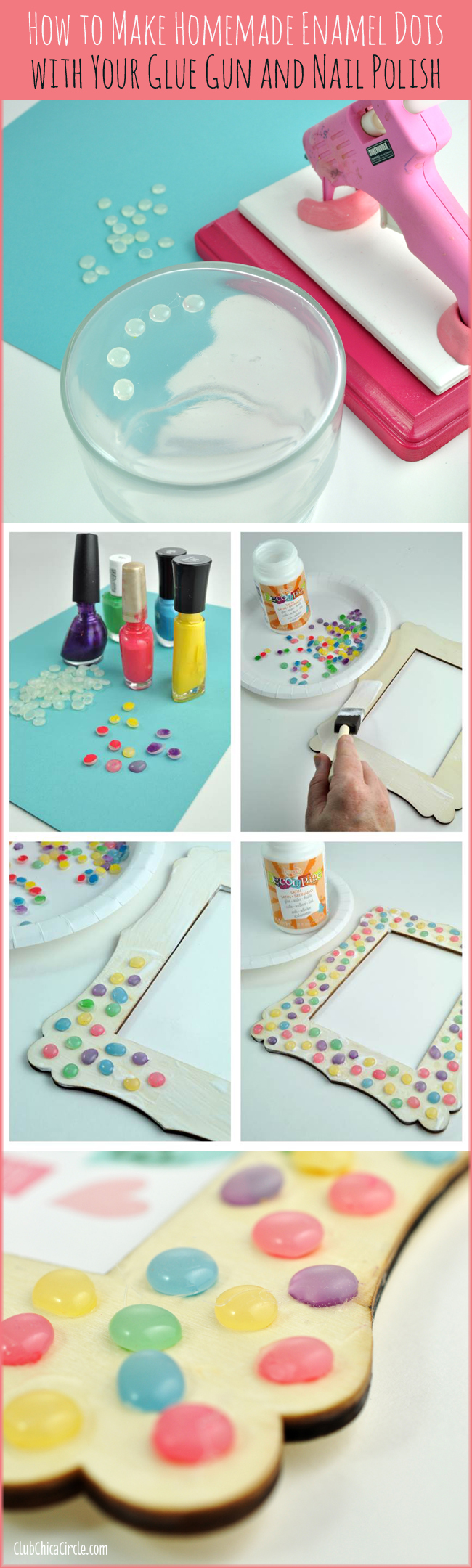 I Used These Supplies To Make My Own Enamel Dots