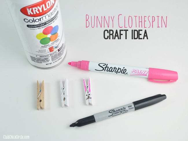 How to make bunny clothespins for Easter