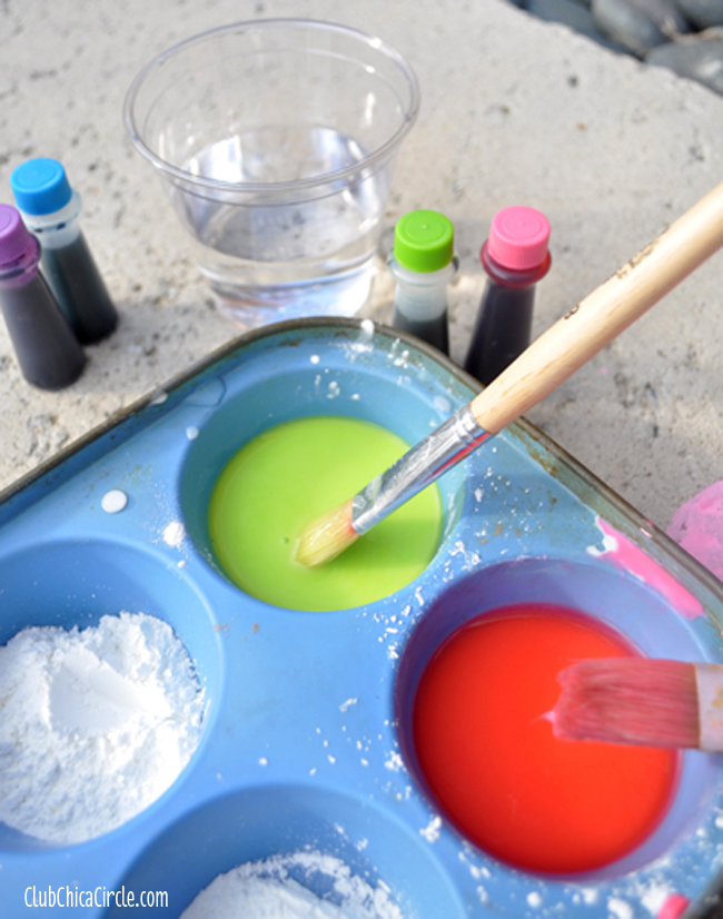 How to make sidewalk chalk paint for kids