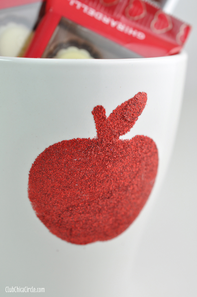 Mod Podge dishwasher safe glitter mug homemade teacher gift