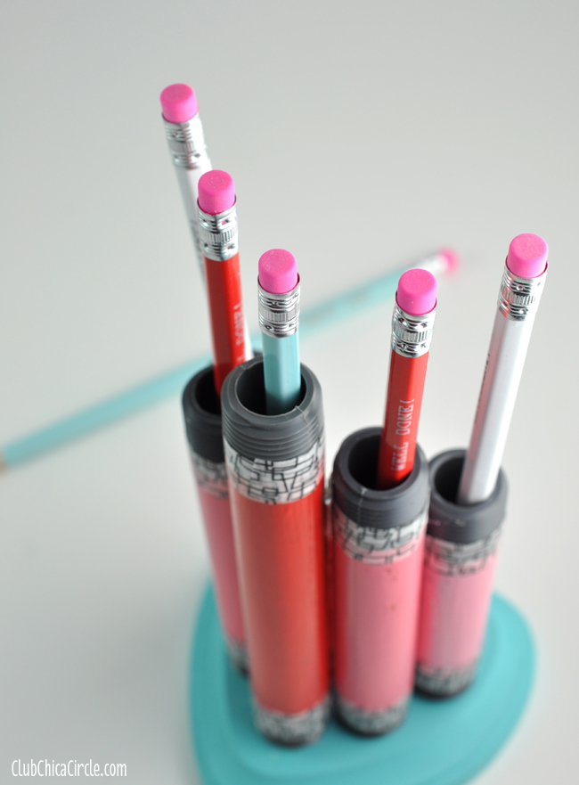PVC pencil holder homemade gift idea