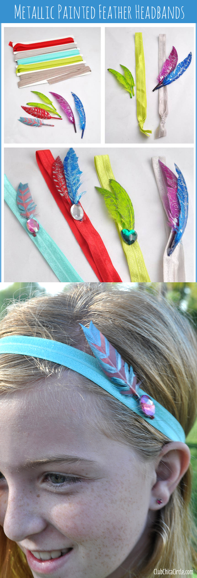 Painted Feather Headbands DIY
