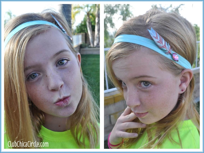 Painted Feather Headbands easy DIY