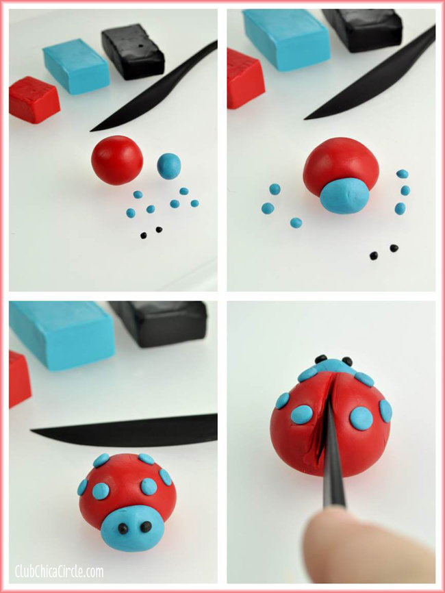 Premo Clay LOVE BUG Ladybugs craft DIY