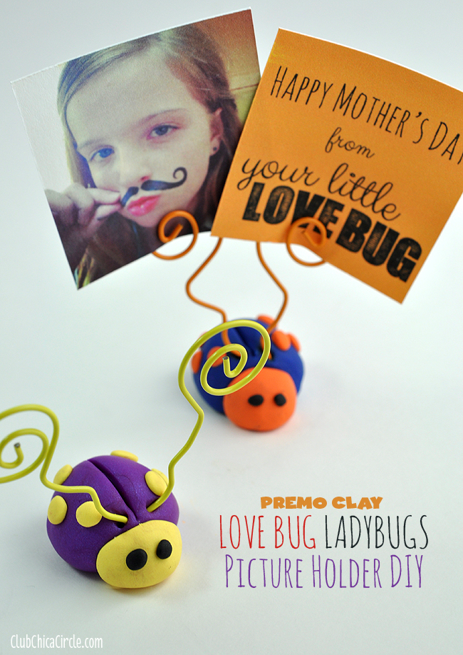 Premo Clay LOVE BUG ladybugs Mother's Day craft idea