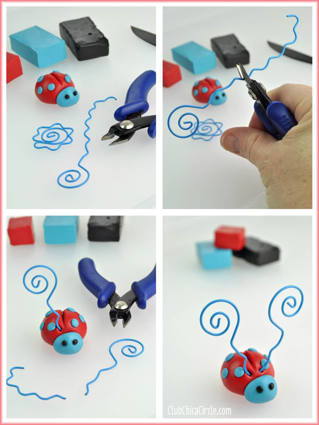 Premo Clay Love BUG Ladybugs picture holder craft tutorial