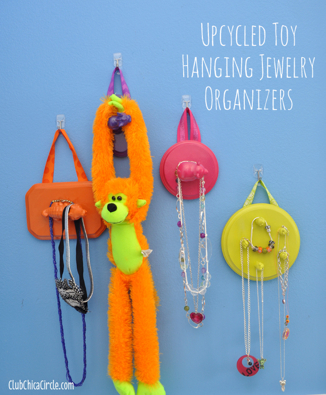 Upcycled Hanging Toy organizers