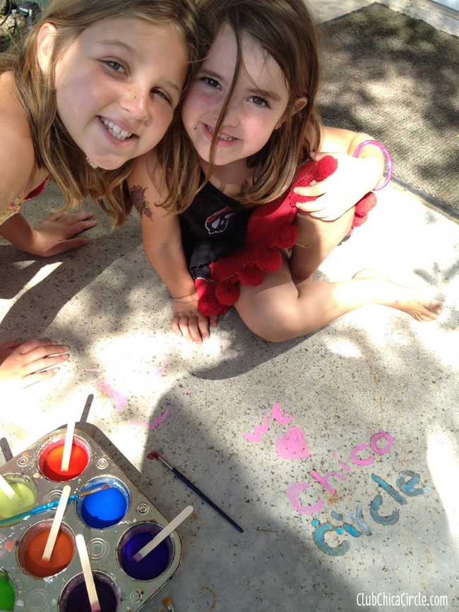homemade chalk paint kids summer activity