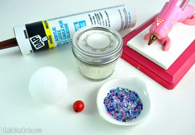 Caulk Cupcake Mini Mason Jar Supplies