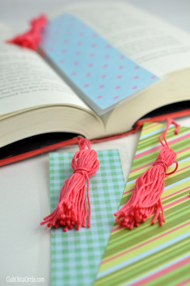 Easy Homemade Tassel Bookmarks Craft Idea