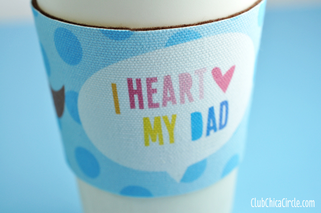 Father's Day coffee cozy sleeve gift idea