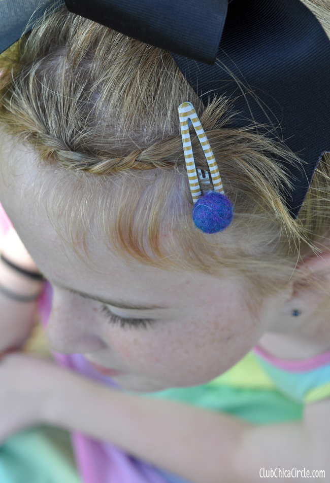 Felt Ball Hair Pin Tween Accessory