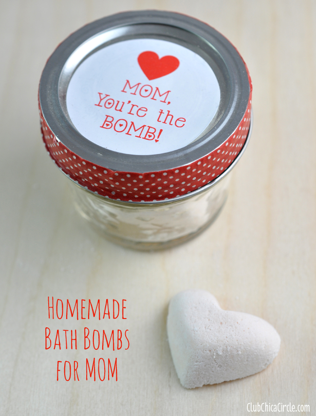 Homemade Bath Bombs for Mother's Day Gift Idea