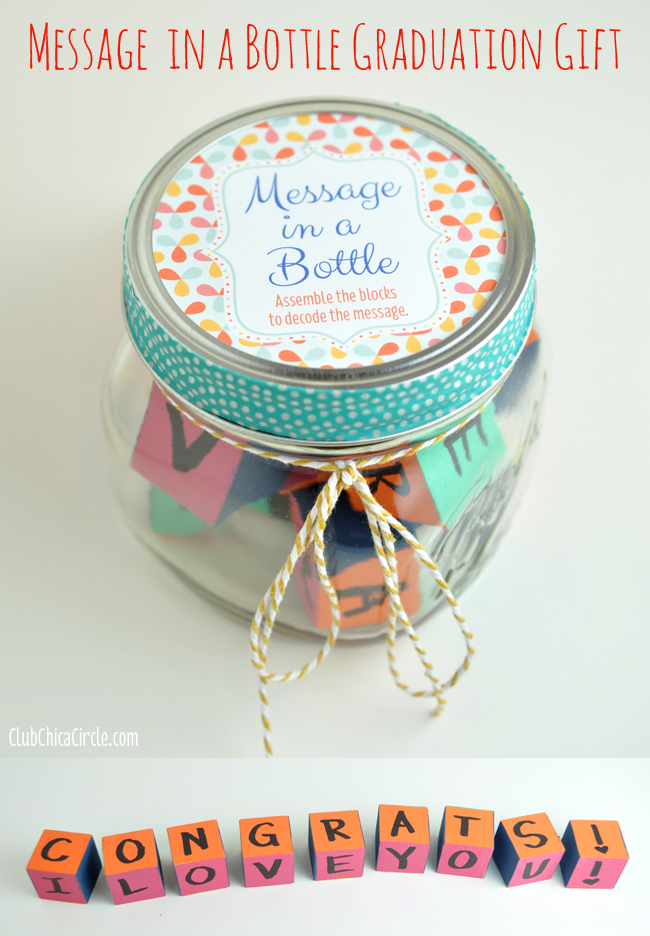 Homemade Mason Jar Graduation Gift