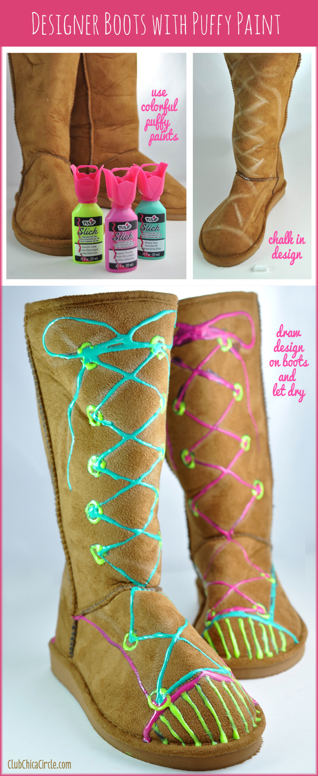 How to Design Your Own Ugg Style Boots with Puffy Paint