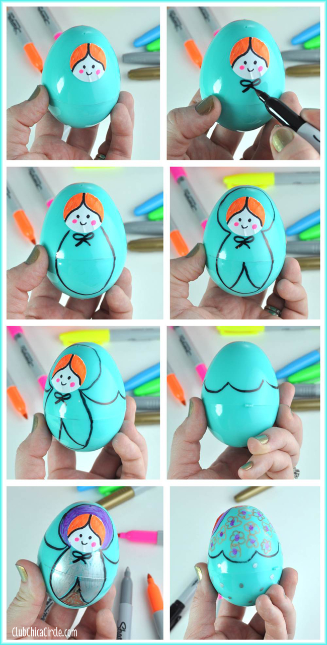 How to make Russian Nesting Dolls with Plastic Eggs