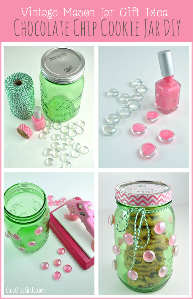 How to make a polka dot mason cookie jar