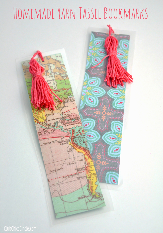 Laminated Easy Homemade Tassel Bookmarks