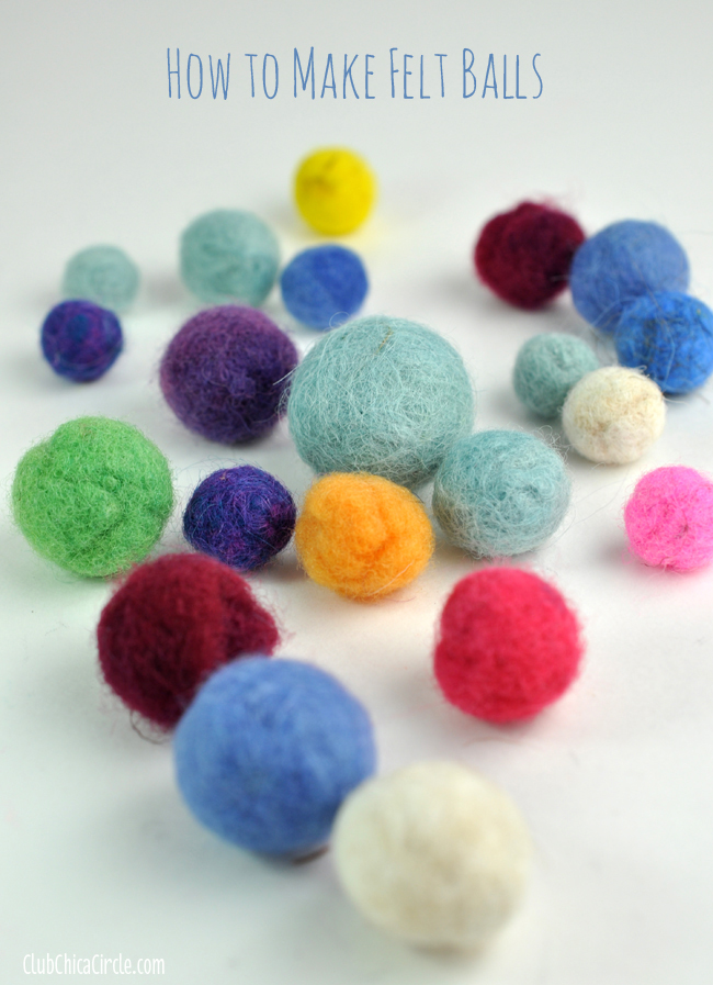 Make your own colored felt balls