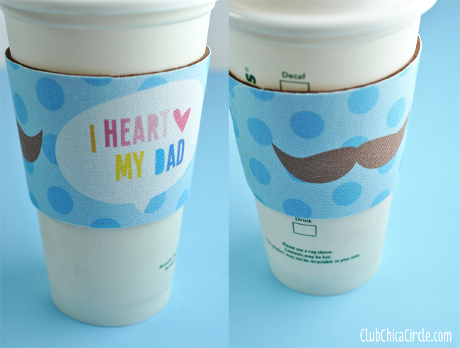 Mustache Father's Day coffee cozy gift