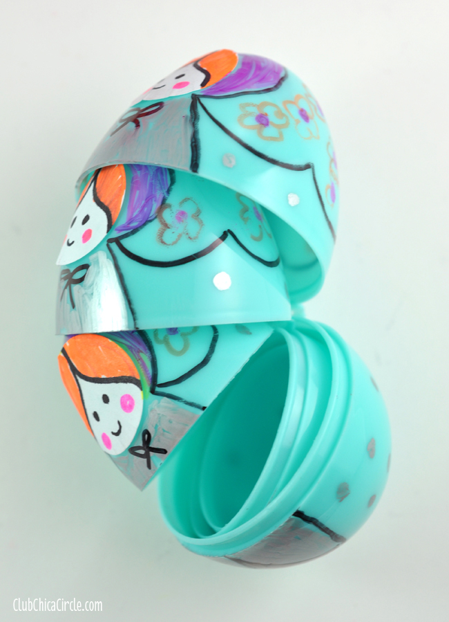 Nesting Plastic Eggs Russian Dolls Craft