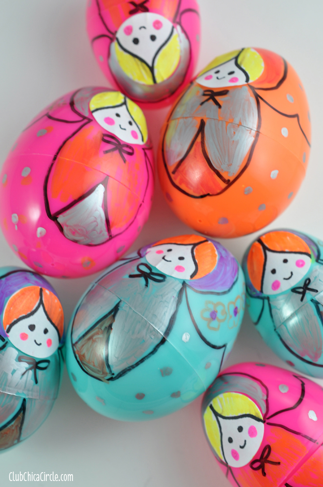 Plastic Egg Nesting Dolls Craft Idea for Kids