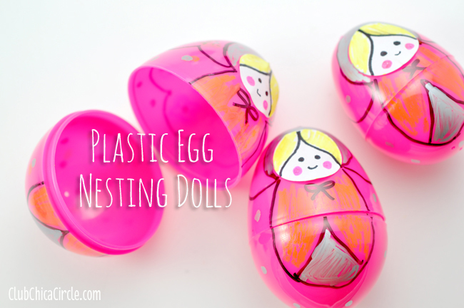 Plastic Egg Nesting Dolls Craft Idea