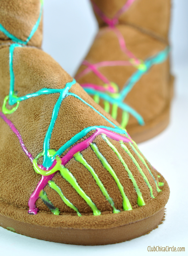 Puffy Paint Fashion Craft Idea for Tweens