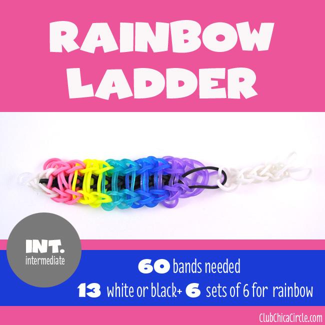 Rainbow Loom Rainbow Ladder bracelet chart